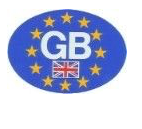 Euro Sticker GB - Oval