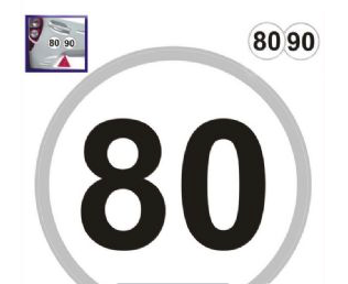 French Speed Limit Stickers
