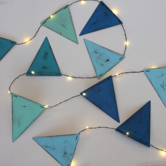 Glam your Glamping with Blue Coloured Bunting -  Metal