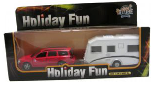 Toy Holiday Fun Car & Caravan