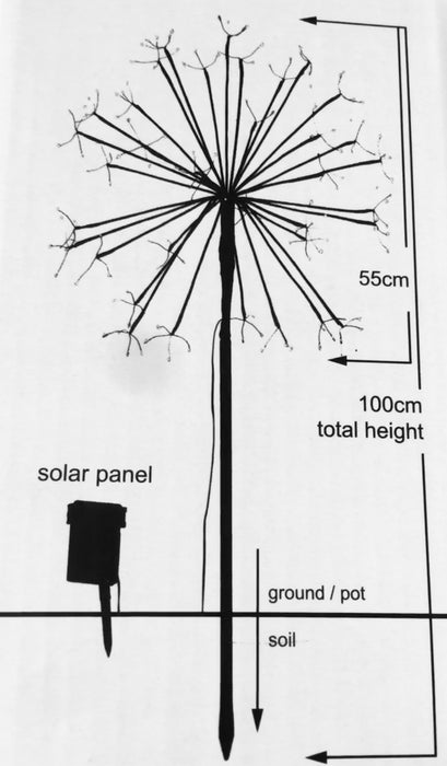 Dandelion Solar Lights - Large Outdoor Stake Light