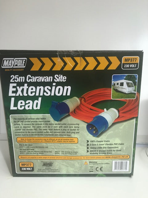 25m Mains Extension Lead 230V 2.5MM MP377