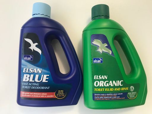 Elsan Blue 2 Litre & Elsan Green  2 Litre - Double Pack