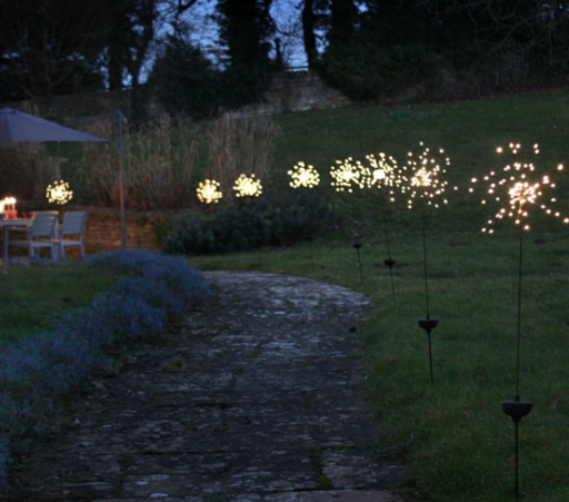 Solar Starburst Lights - Outdoor Stake Light