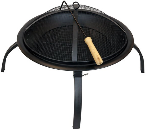 Fire Pit with Folding Legs and FREE Firelog