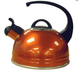 High Gloss Caravan Kettle - Flame Orange