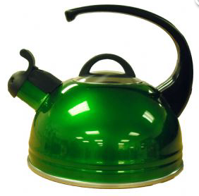 High Gloss Caravan Kettle - Green