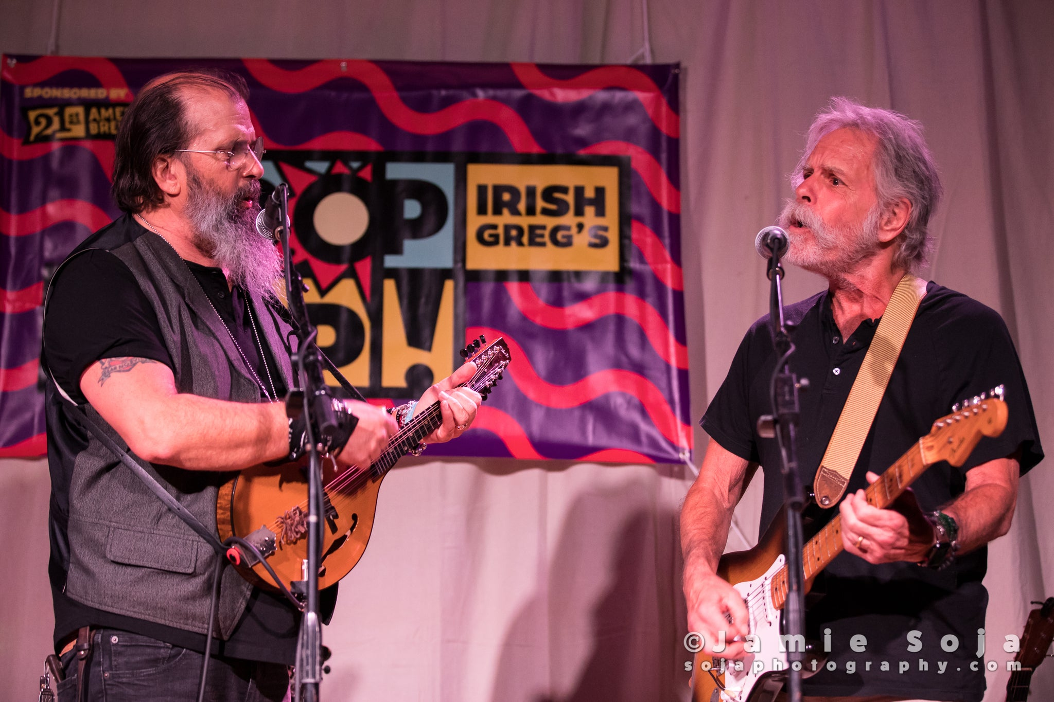 Steve Earle & Bob Weir at Haight Street Art Center