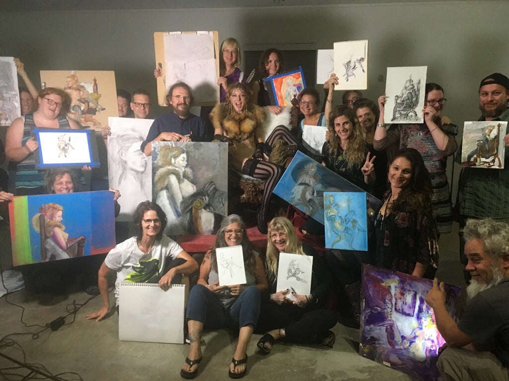 Figure Drawing and Painting Group with Stanley Mouse
