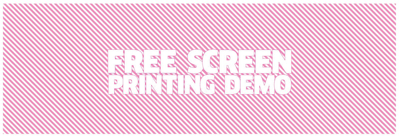 Free Screen Printing Demos at HSAC
