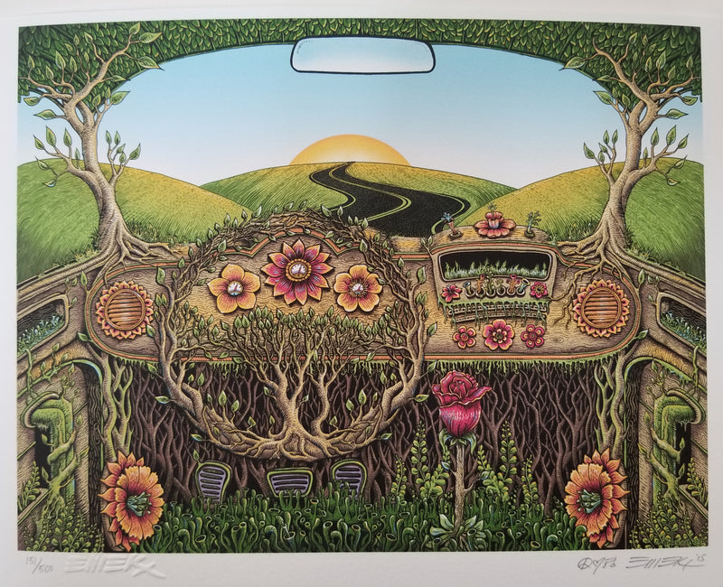 "Emek ""Flower Car"" Print"