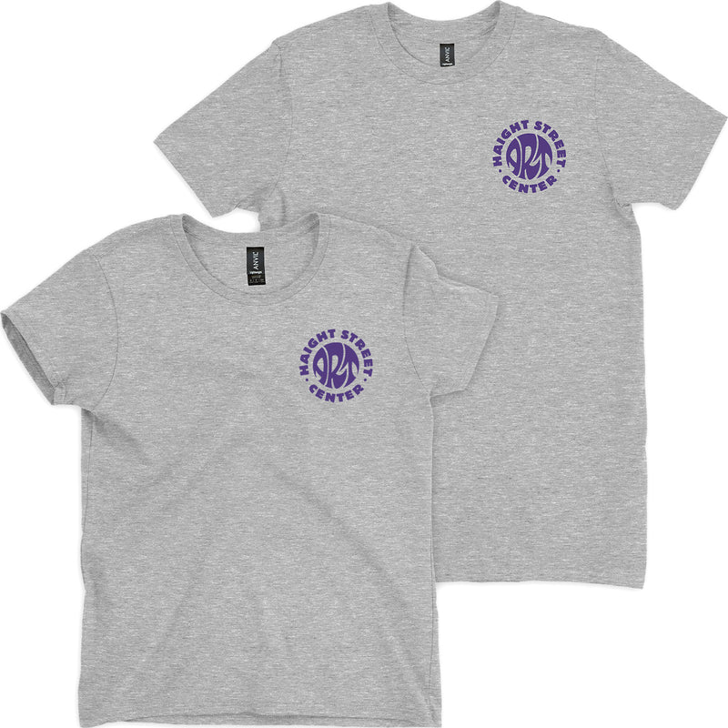 Heather Grey & Purple HSAC Logo Tee