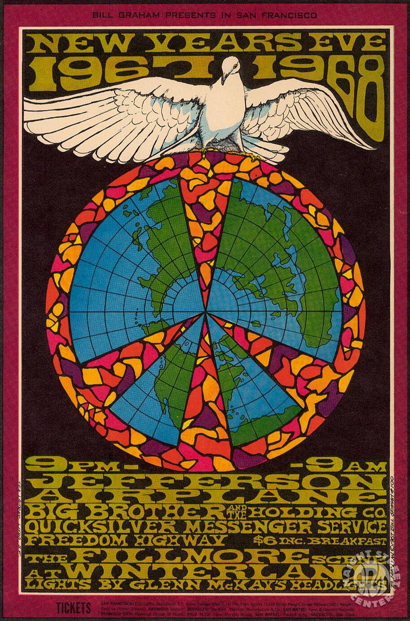 1967-12-31 Jefferson Airplane Postcard