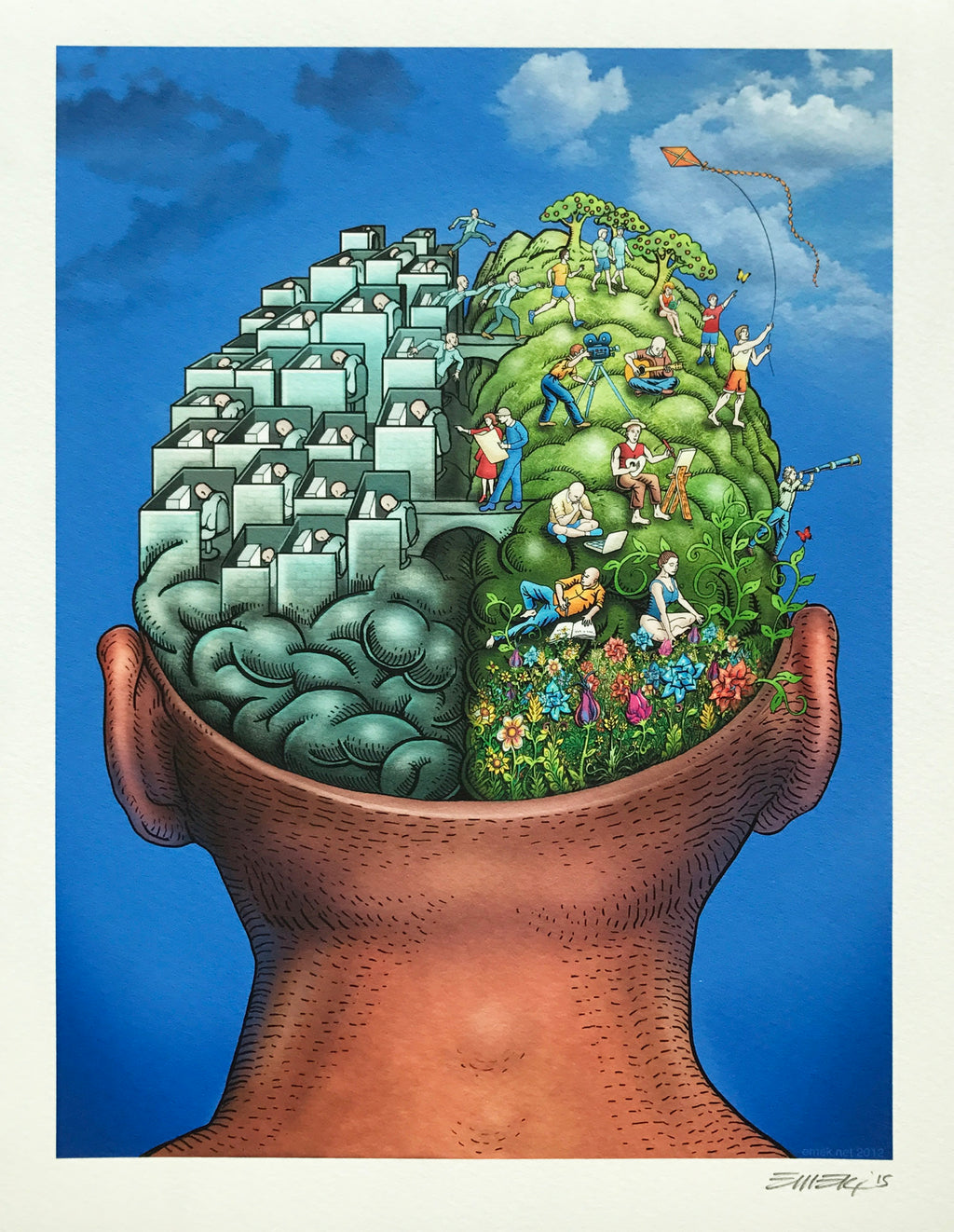 "Emek ""Brain Power"" Print"