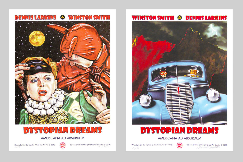 Dystopian Dreams Exhibition Screen Prints (Matched Numbered Set of 2)