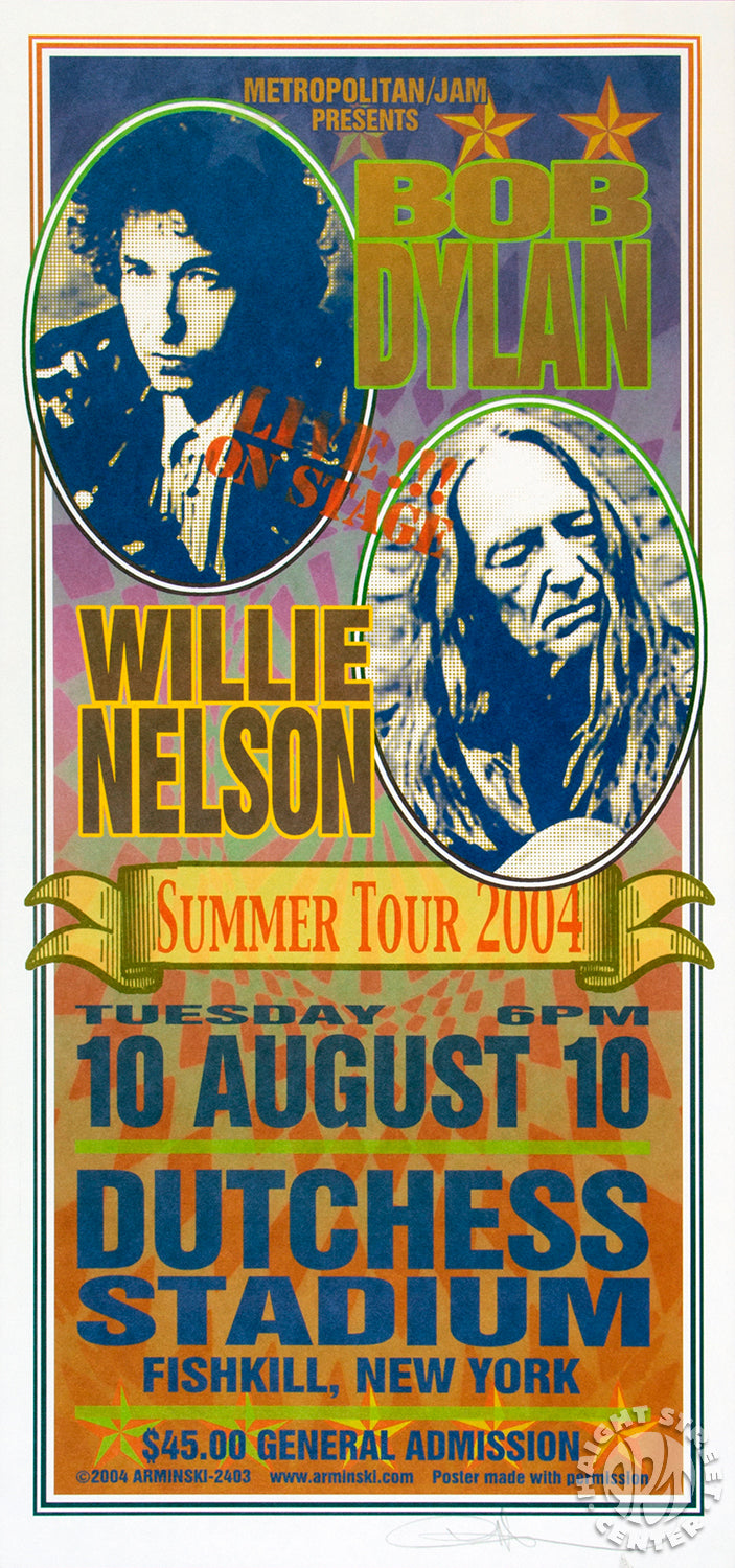 2004-08-10 Bob Dylan and Willie Nelson