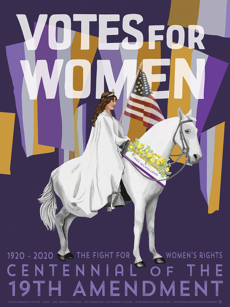 19th Amendment Poster by Brooke Fischer