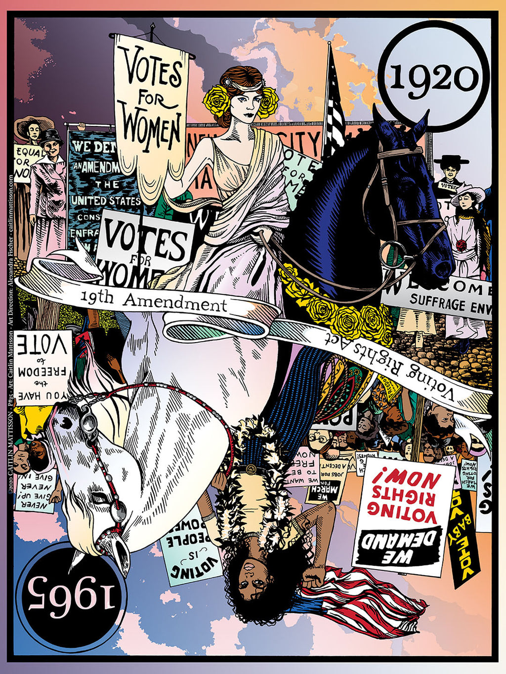 19th Amendment Poster by Caitlin Mattisson