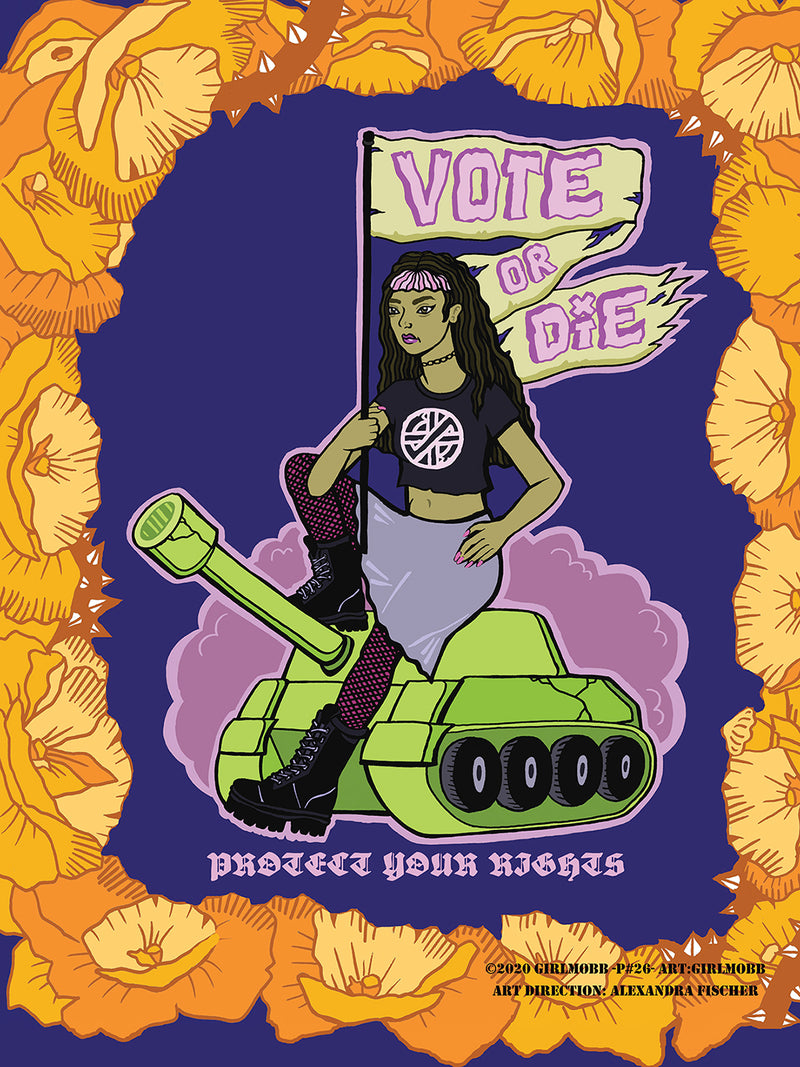 19th Amendment Poster by Girl Mobb