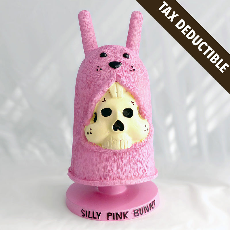 Silly Pink Bunny Bobblehead