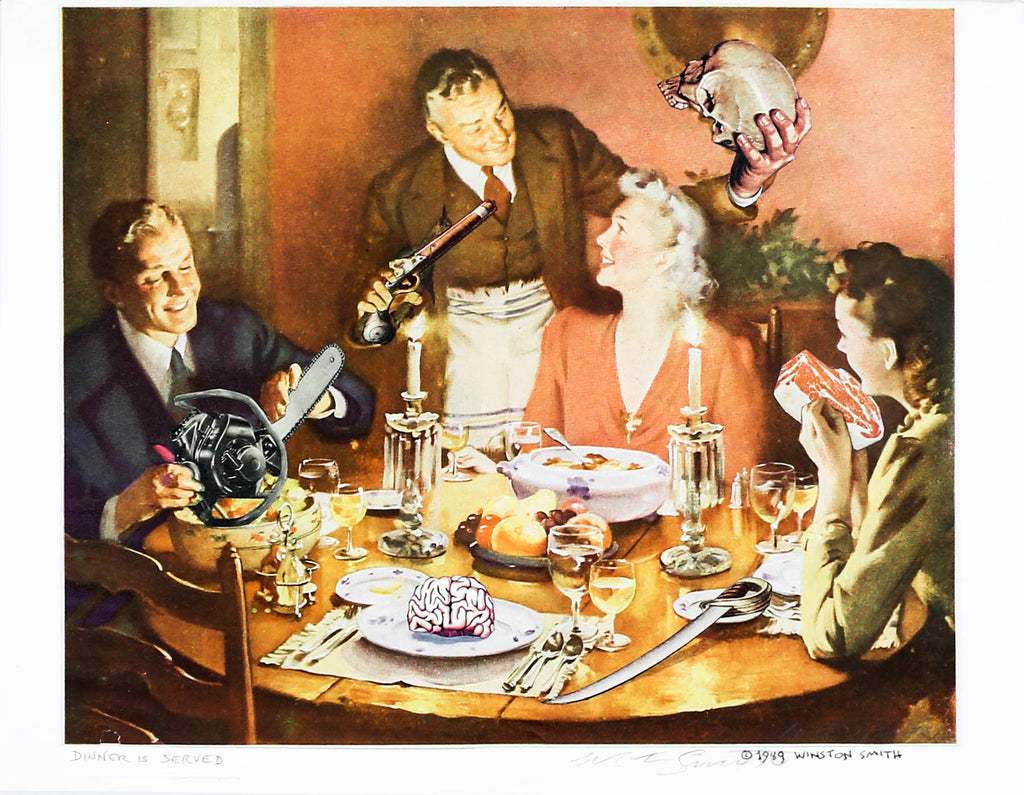 Winston Smith 1989 Dinner Is Served (#2) Original Art