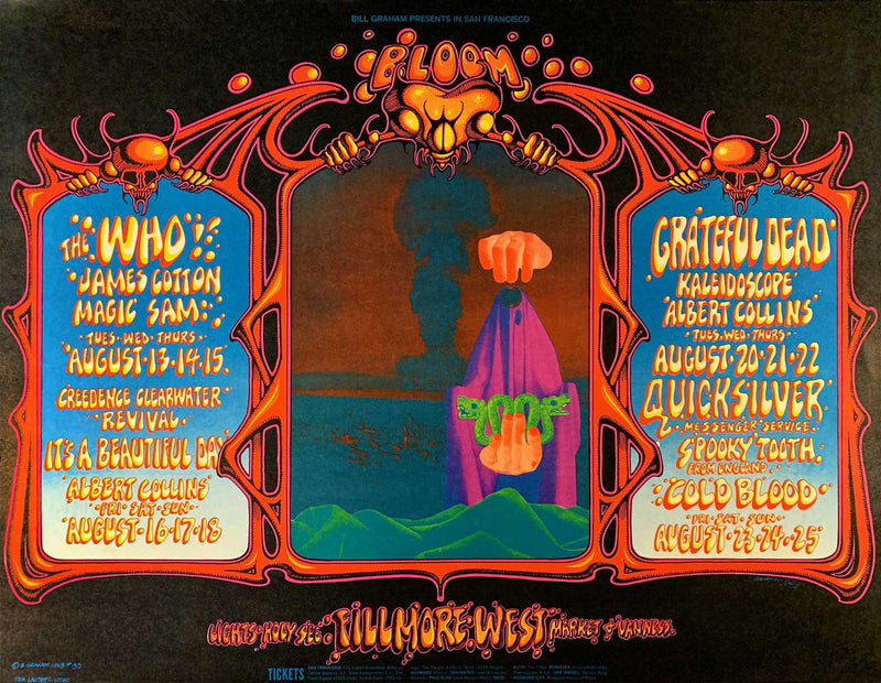 1968-08-13 The Who, Grateful Dead (BG 133)