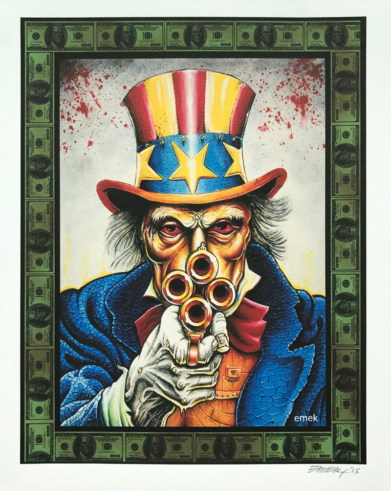 "Emek ""Uncle Scam"" Print"