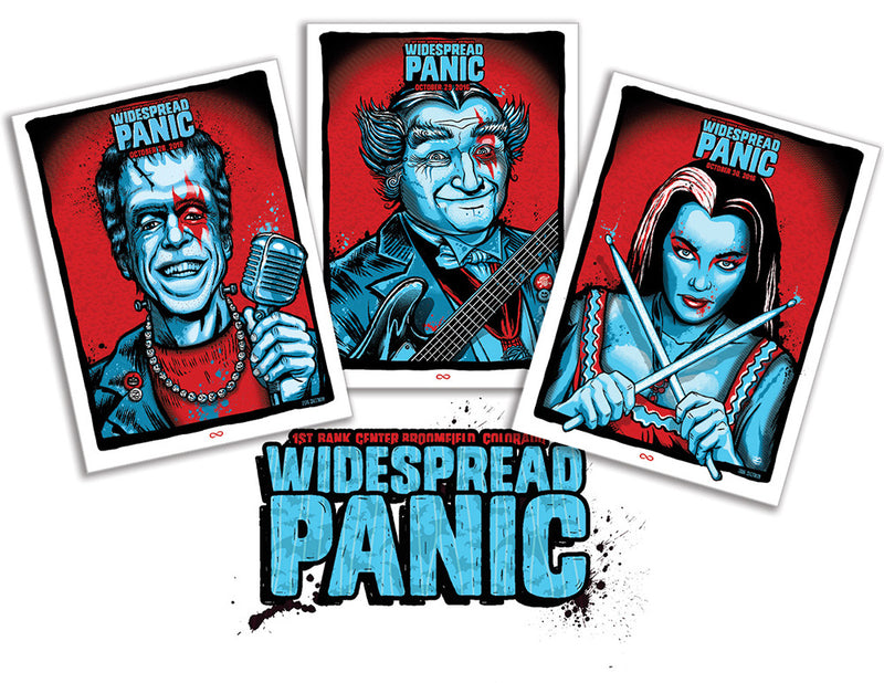 2016-10-28 Widespread Panic Halloween (Set of 3)