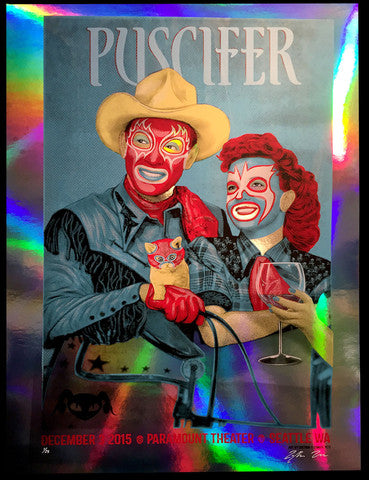 2015-12-03 Puscifer Seattle (Rainbow Foil edition)