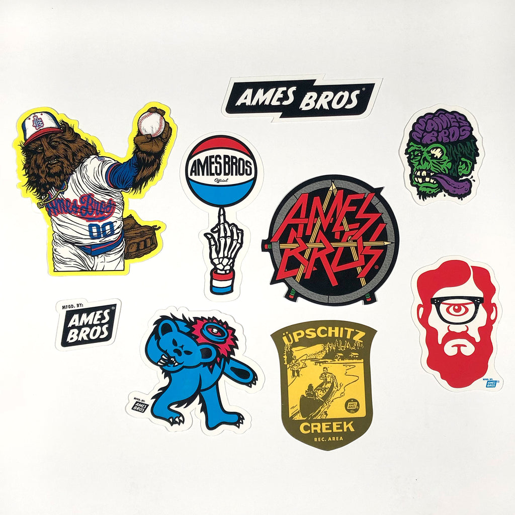 Ames Bros Sticker Pack