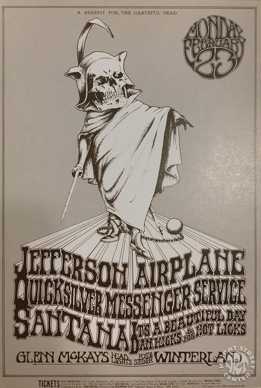 1970-02-23 Jefferson Airplane Postcard