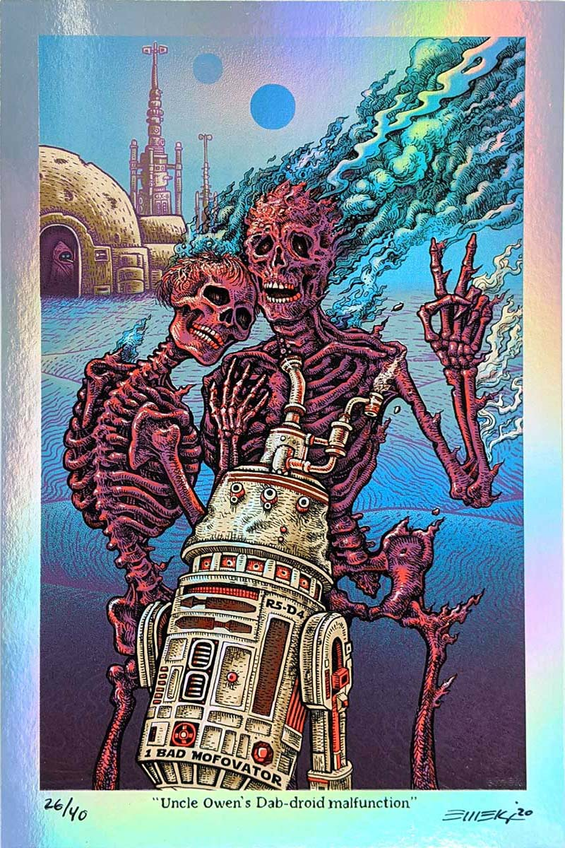 Emek Stoned Wars Series III Blue Wall