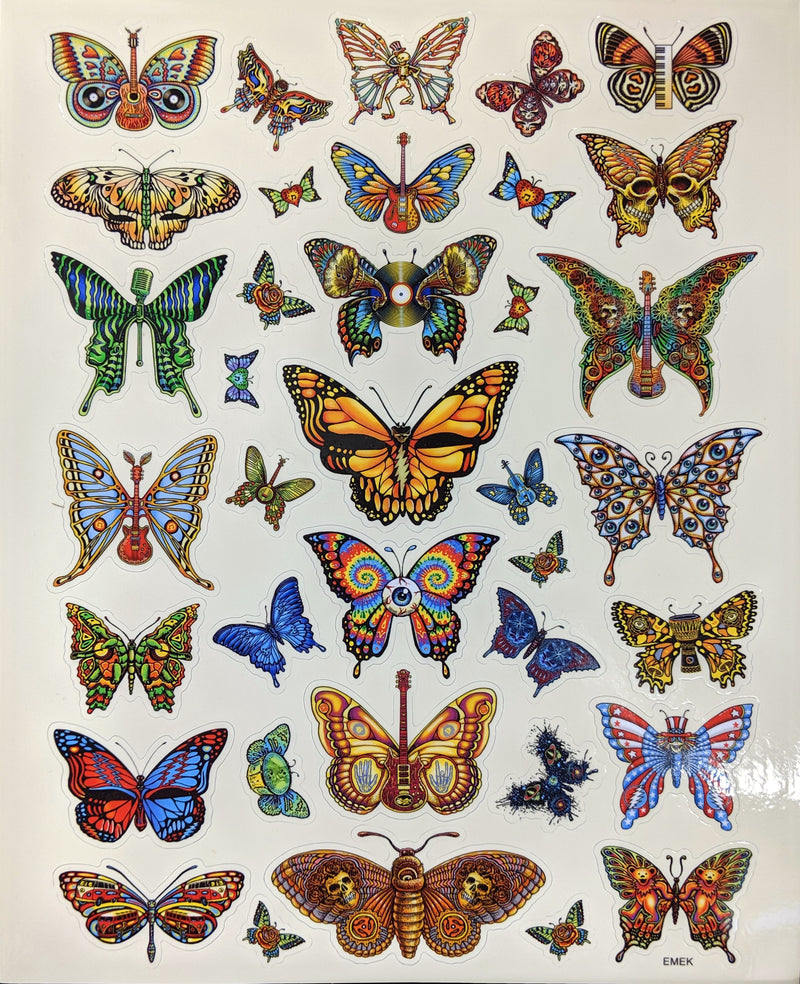 Emek Dead Butterflies Sticker Sheet