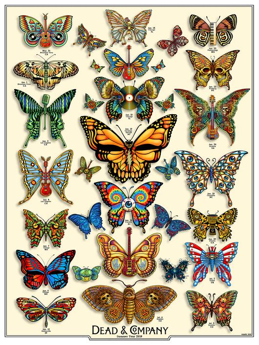 Dead & Company Butterfly Poster