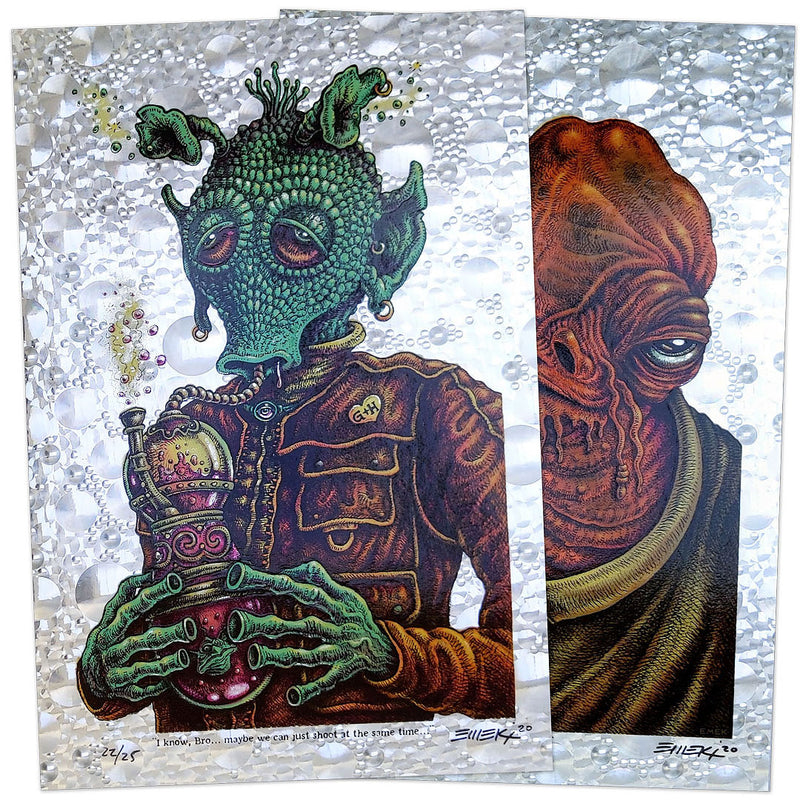 Emek Stoned Wars Weedo & Ackbar Bubble