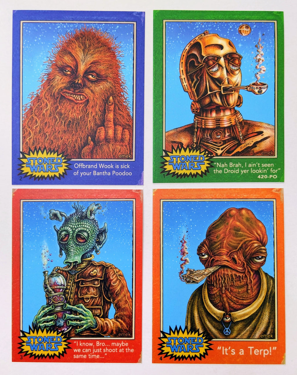 Emek Stoned Wars Weedo & Ackbar Red Sky
