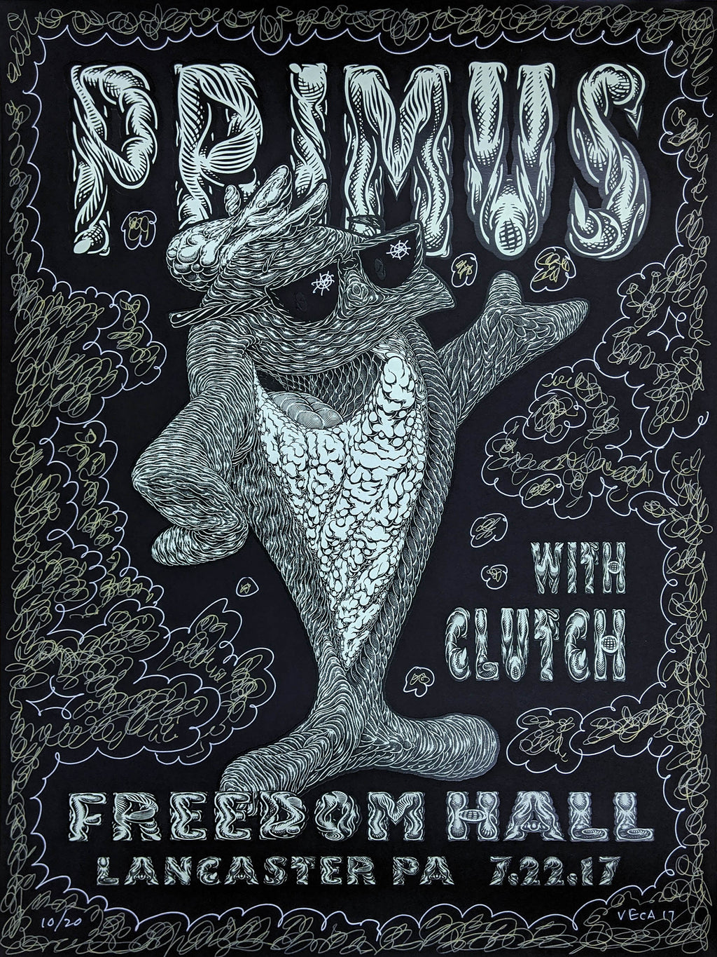 Mark Dean Veca 2017-07-22 Primus Fish On Embellished
