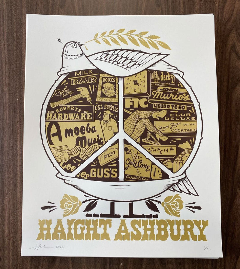 THE UPPER HAIGHT Screen Print by Jeremy Fish
