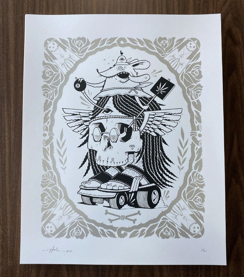 STANLEY MOUSE Screen Print by Jeremy Fish