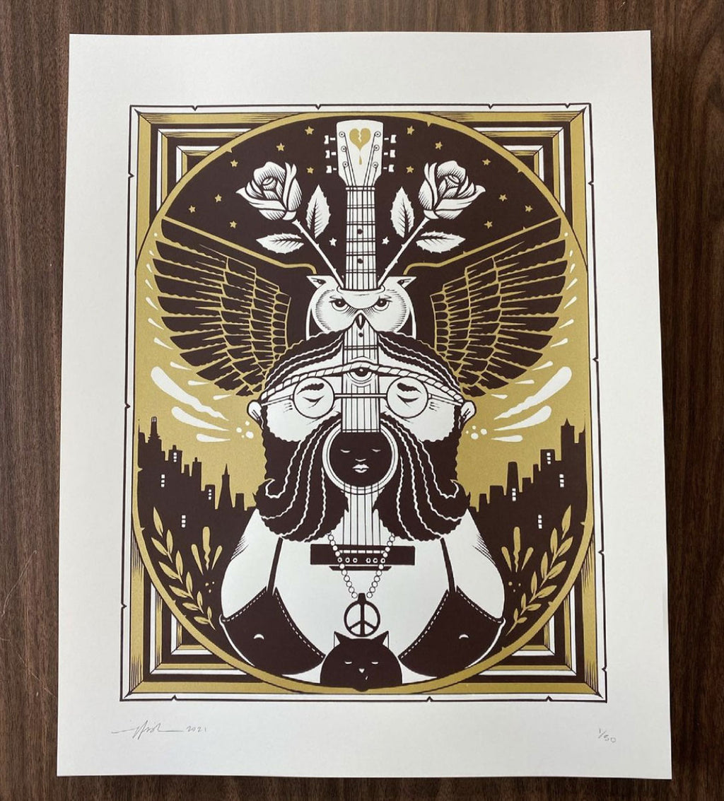 THE ORACLE Screen Print by Jeremy Fish