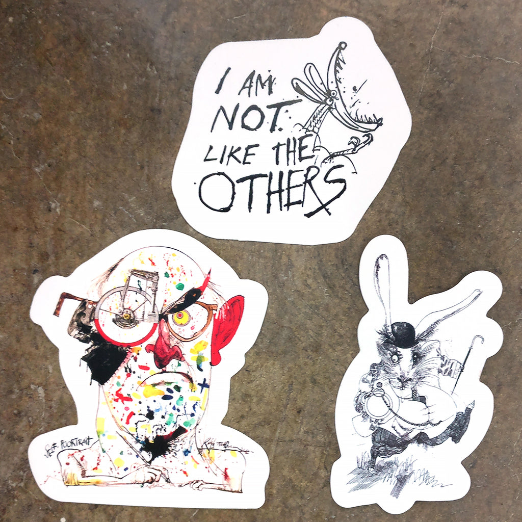 Ralph Steadman Set of 3 Stickers