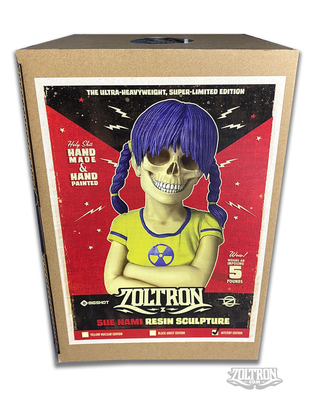 Zoltron - Signed Sue Nami Sculpture - Mystery Edition of 30 & Print