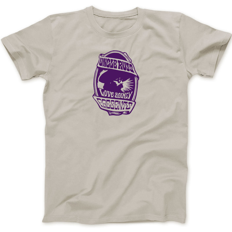 Uncle Russ Love Agency Sand/Purple Tee