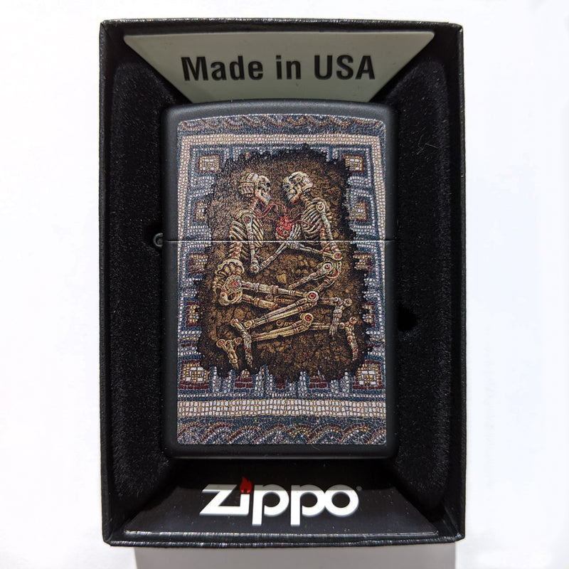 Zippo Lighter Black Rome Eternal Embrace