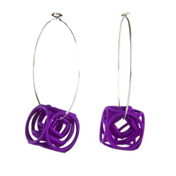 3d Cube Earrings