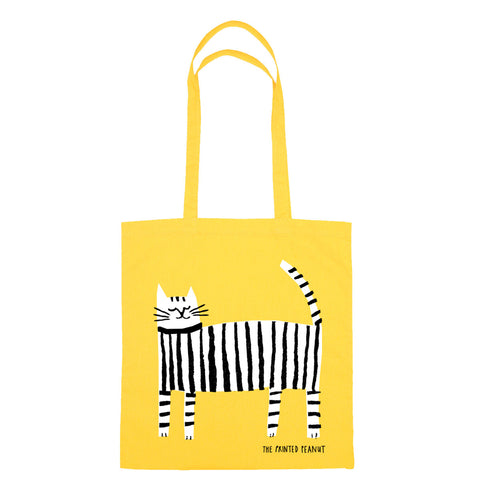 Cat Tote by The Printed Peanut