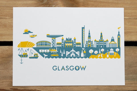 Glasgow Skyline Postcard