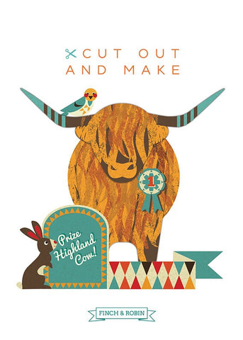 Cut out & Make Highland Cow
