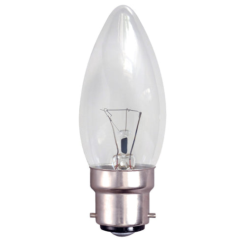 Gé 60 Watt BC/B22 Clear Candle Light Bulb