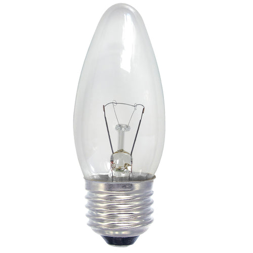 Gé 40 Watt ES/E27 Clear Candle Light Bulb